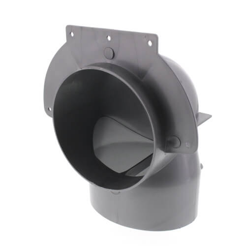 """4"""" Low Profile Plastic Elbow (Fits in 2x4 Wall) Product Image"""