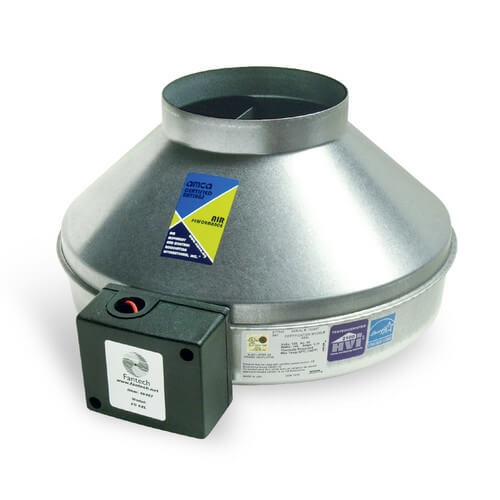 "FG Series Round Inline Exhaust Fan w/ Power Cord, 6"" Duct (483 CFM) Product Image"