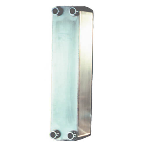 "14 Plate, 3/4"" Threaded TTP Brazed Plate Heat Exchanger (3"" x 8"") Product Image"