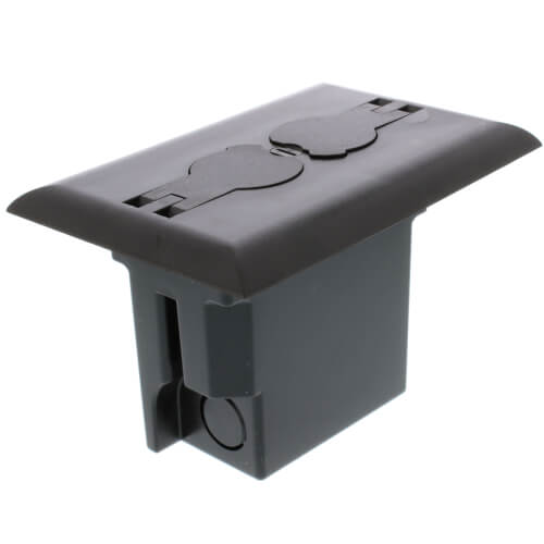 Non-Metallic Floor Box for Installed Floors w/ Threaded Plugs (Brown) Product Image