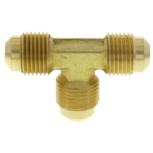 "3/8"" Brass Flare Tee Product Image"
