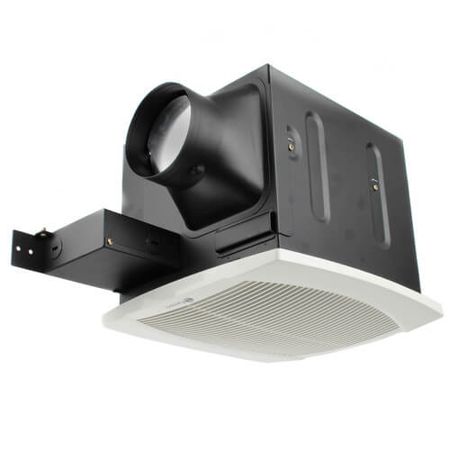 """FQ Series Quiet Ceiling Mounted Exhaust Fans w/ Light, 4"""" Duct (110 CFM) Product Image"""