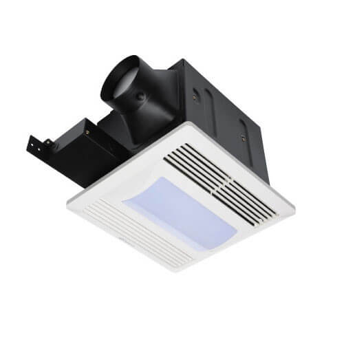 "FQ Series Quiet Ceiling Mounted Exhaust Fans w/ Light, 4"" Duct (80 CFM) Product Image"