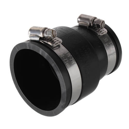 """2"""" x 1-1/2"""" Rubber Coupling (Cast Iron or PVC to Cast Iron or PVC) Product Image"""