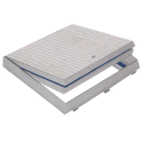 """24"""" x 24"""" (Frame Opening) Fire Rated Floor Door, Flush Diamond Plate Product Image"""