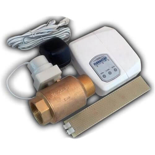 """Water Heater FloodStop w/ 1-1/4"""" Ball Valve Product Image"""