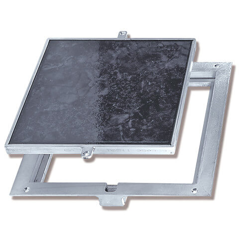 """8"""" x 8"""" (Frame Opening) FT-8080 Non Hinged: Floor Doors w/ 1"""" Panel Recessed Product Image"""