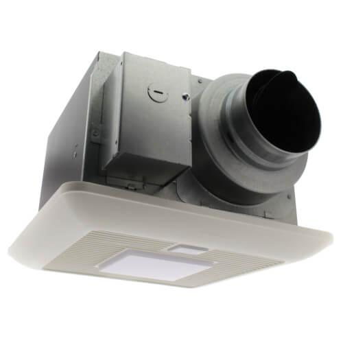 WhisperSense Lite 50/80/110 CFM Ceiling Mounted Fan w/ Light, Dual Motion & Humidity Sensor Product Image