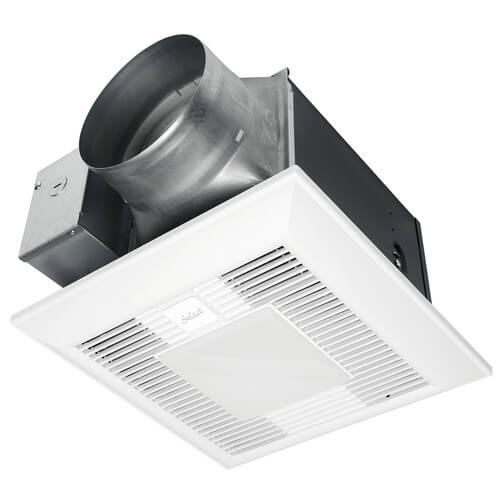 Fv 11 15vkl1 Panasonic Fv 11 15vkl1 Whispergreen Select Single Speed Ceiling Ventilation Fan Led Light 110 130 150 Cfm