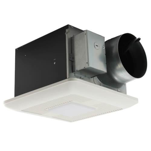 WhisperCeiling DC 110/130/150 CFM Ceiling Ventilation Fan w/ LED Light Product Image