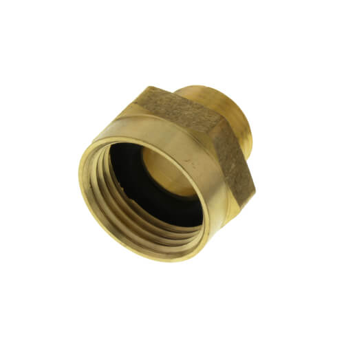 """3/4"""" Female Hose x 1/2"""" Male Pipe (1/2"""" Sweat) Brass Garden Hose Adapter (84SWT) Product Image"""