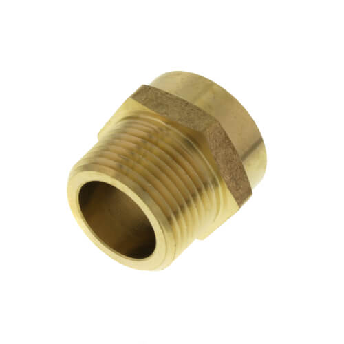 """3/4"""" Female Hose x 3/4"""" Male Pipe Brass Garden Hose Adapter (85GH) Product Image"""