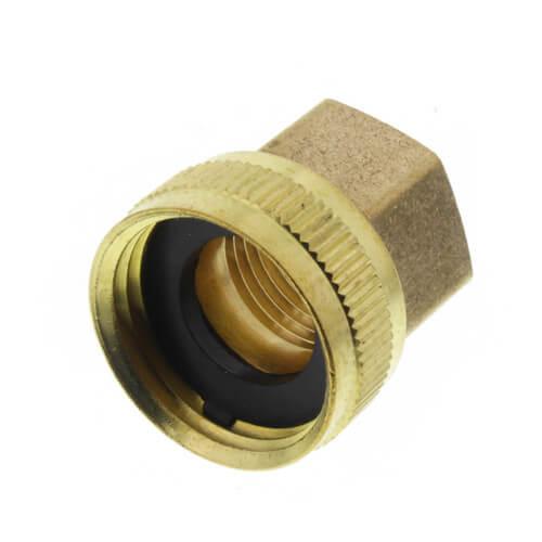 "3/4"" Female Hose x 1/2"" Female Pipe Brass Garden Hose Swivel (S11) Product Image"