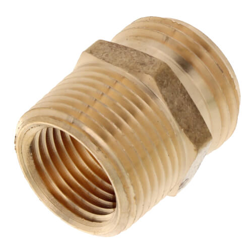 "3/4"" x 3/4"" Brass Garden Hose Fitting - 1/2"" FIP Tap (Lead Free) Product Image"