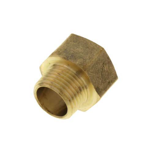 "3/4"" x 1/2"" Garden Hose Adapter, Lead Free (Brass Female Hose to Male Pipe Adapter) Product Image"