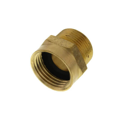 "3/4"" Female Hose x 3/4"" Male Pipe Brass Garden Hose Adapter (Lead Free) Product Image"