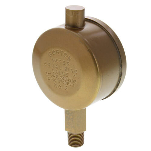 "Gorton No. 6 1/8"" Straight Vapor Equalizing Valve Product Image"