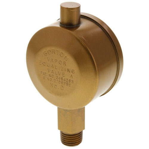 "Gorton No. D, 1/4"" Straight Vapor Equalizing Valve Product Image"
