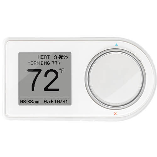 7 Day Programmable WiFi Thermostat, Dual Mount - White (2 Heat - 2 Cool) Product Image