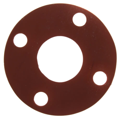 """2"""" Full Face Red Rubber Gasket Product Image"""