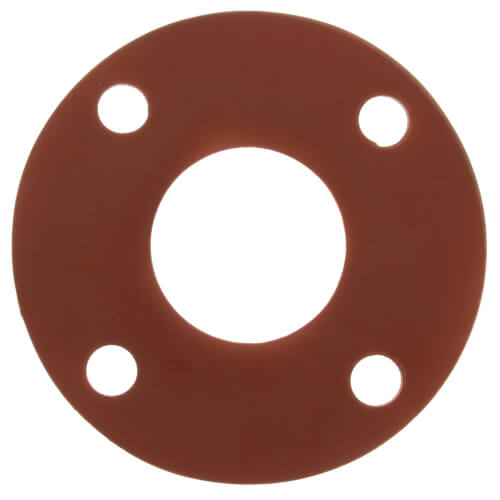 """2-1/2"""" Full Face Red Rubber Gasket Product Image"""