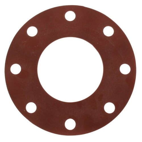 """4"""" Full Face Red Rubber Gasket Product Image"""