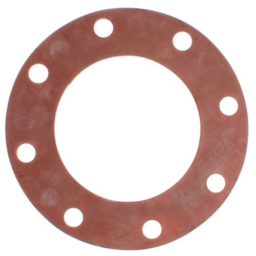 """6"""" Full Face Red Rubber Gasket Product Image"""