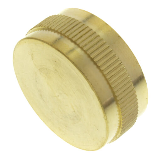 """3/4"""" Brass Garden Hose Cap w/ Washer Product Image"""