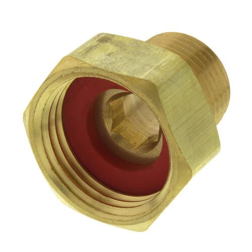 "1/2"" Male Pipe x 3/4"" Female Hose Brass Garden Hose Swivel Adapter Product Image"