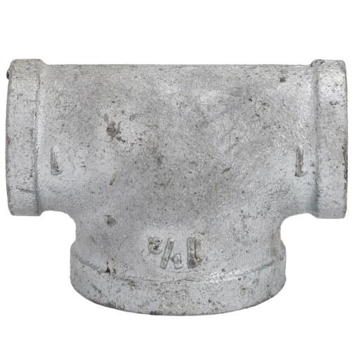 "1"" x 1"" x 1-1/2"" Galvanized Bull Head Tee Product Image"