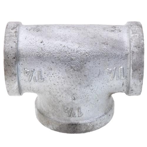 "1-1/4"" x 1-1/4"" x 1-1/2"" Galvanized Bull Head Tee Product Image"