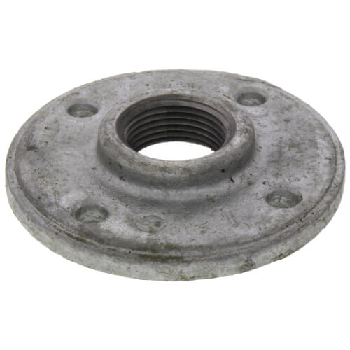 "1"" Galvanized Floor Flange w/ Holes Product Image"