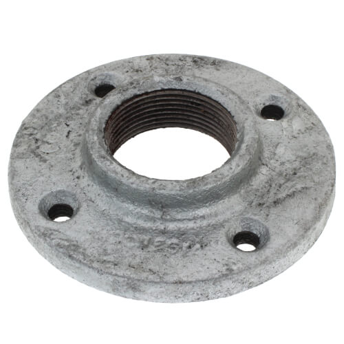 "1-1/2"" Galvanized Floor Flange w/ Holes Product Image"
