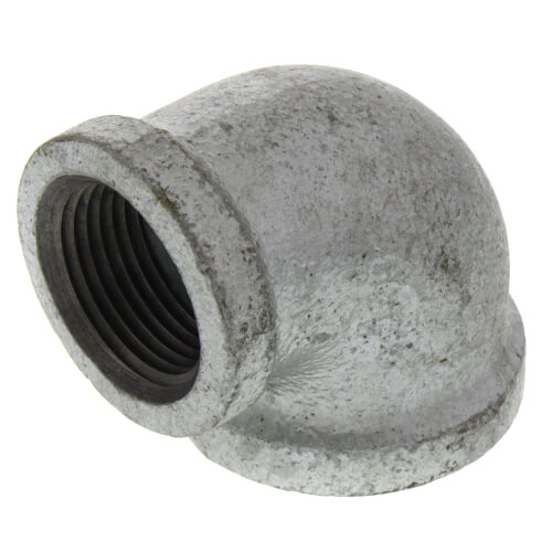 """1"""" x 3/4"""" Galvanized Malleable Reducing Elbow Product Image"""