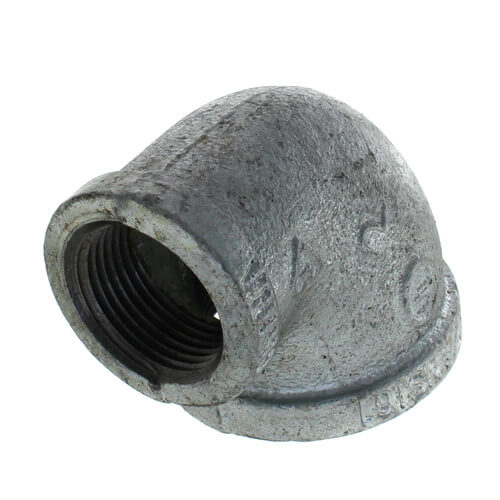 """1-1/2"""" x 1"""" Galvanized Malleable Reducing Elbow Product Image"""