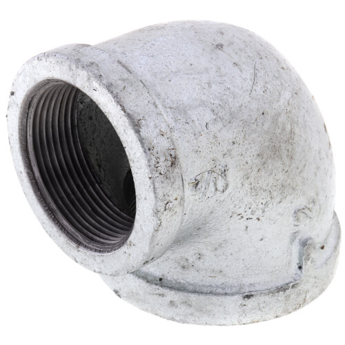 """2"""" x 1-1/2"""" Galvanized Malleable Reducing Elbow Product Image"""
