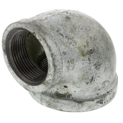 """3"""" x 2"""" Galvanized Malleable Reducing Elbow Product Image"""