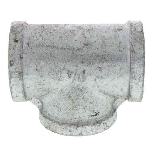 1 Everflow Supplies GMTE0100 High Pressure Galvanized Malleable Tee Fitting with Female Threaded Connections