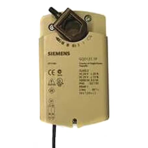 GQD 2-Position 20 lb-in Spring Return Rotary Electronic Damper Actuator w/ Plenum Cabling (120V) Product Image