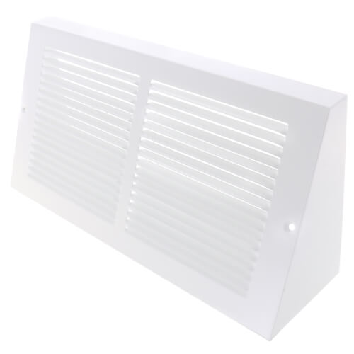 """12"""" x 6"""" Baseboard Return Air Grille, 1/3"""" Series 1 (White) Product Image"""