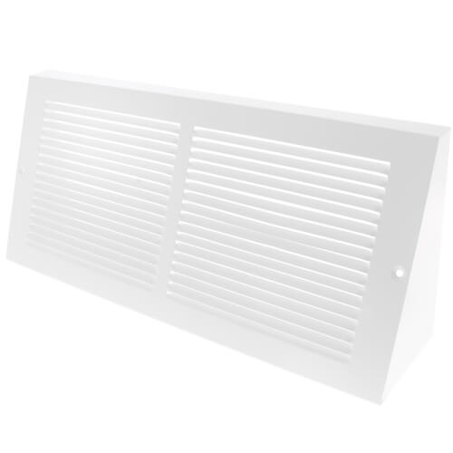 """14"""" x 6"""" Baseboard Return Air Grille, 1/3"""" Series 1 (White) Product Image"""