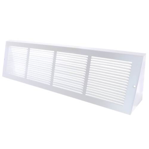 """24"""" x 6"""" Baseboard Return Air Grille, 1/3"""" Series 1 (White) Product Image"""