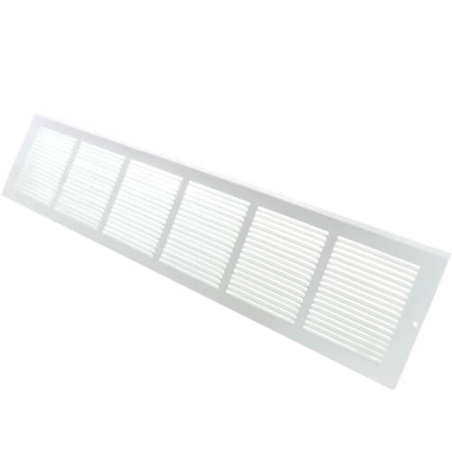 "30"" x 6"" Baseboard Return Air Grille, 1/3"" Series 1 (White) Product Image"
