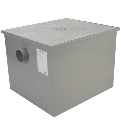 """3"""" No-Hub Grease Trap w/ Flow Control, 35 gpm Product Image"""