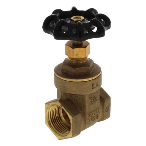 "3/4"" Threaded Gate Valve (Lead Free) Product Image"