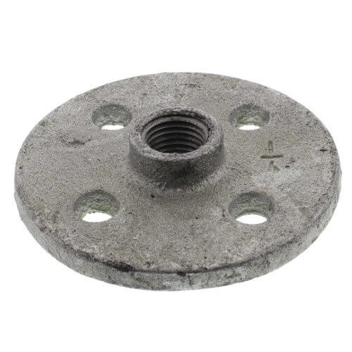 "1/4"" Galvanized Floor Flange w/ Holes Product Image"
