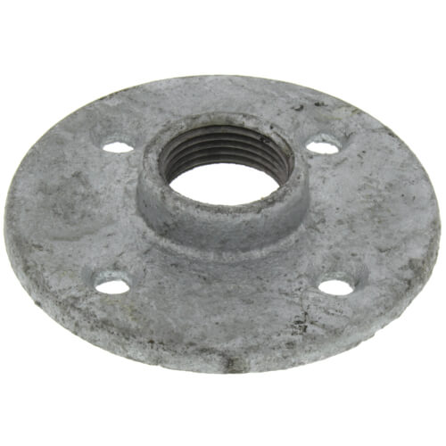 "3/4"" Galvanized Floor Flange w/ Holes Product Image"