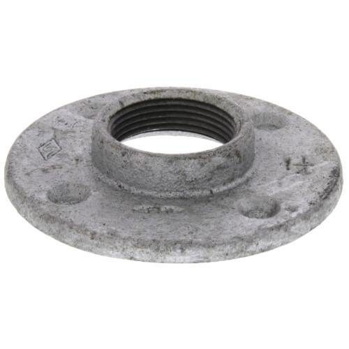 "1-1/4"" Galvanized Floor Flange w/ Holes Product Image"