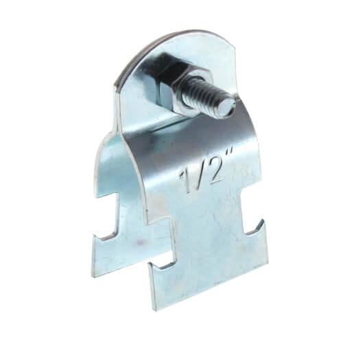 "1/2"" Electro-Galvanized Multi-Strut Pipe Clamp Product Image"