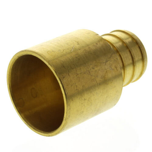 "3/4"" PEX x 3/4"" Copper Pipe Brass Adapter (Lead Free) Product Image"